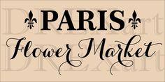 PARIS FLOWER MARKET Stencil French Stencils Fleur de by drexart