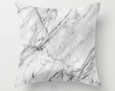 Buy Abstract Creative Italian Marble Pillow Case Cotton Blended Waist Pillow Cover Square Sofa Car Cushion Cover at Wish - Shopping Made Fun Throw Pillow Cases, Decorative Throw Pillows, Pillow Covers, Fall Pillows, Cricut, Geometric Cushions, White Cushions, Geometric Pillow, Bedroom Decor