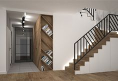 schody Staircase Interior Design, Staircase Railing Design, Interior Stair Railing, Modern Stair Railing, Staircase Handrail, Home Stairs Design, Stairs Architecture, Modern Stairs, Home Interior Design