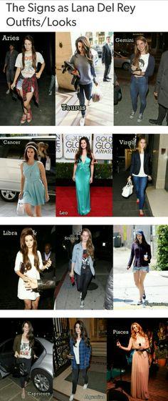Lana Del Rey + zodiac signs #LDR #fashion