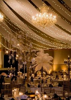 gorgeous Gatsby wedding ceremony decor ideas