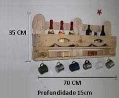 porta vinho bebidas mini adega prateleira madeira