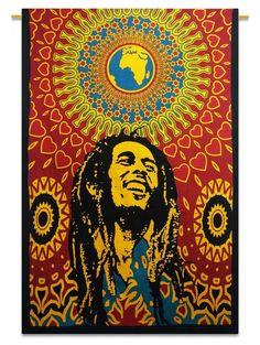 Bob Marley Tapestry - http://www.toptapestries.com/trippy-tapestries/ #trippy…