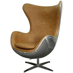 Axis Swivel Rocker Chair Aluminium Frame, Distress