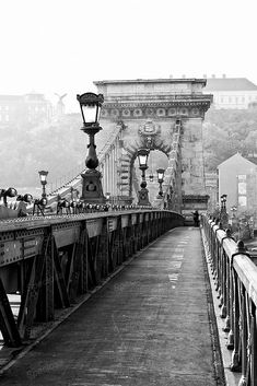 Black and White, photograph, Budapest, The Chain Bridge, Szechenyi lanchid, Hungary, Urbex, Art Nouveau, art print,
