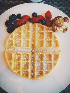 What's brunch without a Belgium #waffle? What's your go-to #brunch dish this #weekend?