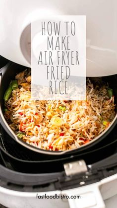 This Air Fryer fried rice is the best and can compete with any restaurant fried rice. On the table in no time and a great side dish to serve with dinner. Want to try? Visit fastfoodbistro.com for the full recipe and instructions Best Side Dishes, Main Dishes, Air Frying, Master Chef, Air Fryer Recipes, Fried Rice, Dryer, Tasty, Restaurant