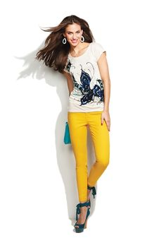 Top sunny denim with a graphic tee. #newarrivals #Kohls