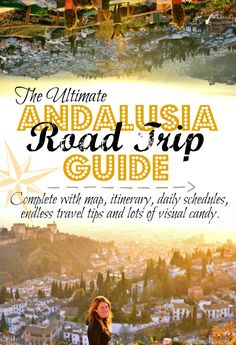 The Ultimate Andalusia, Spain Road Trip Guide - A complete 4500 word guide with map, itinerary, daily schedules, endless travel tips and lots of visual candy. The only one you'll need to plan your South of Spain adventures! - A World to Travel Europe Travel Tips, Spain Travel, European Travel, Places To Travel, Travel Hacks, Andalusia Travel, Travel Destinations, Budget Travel, Granada