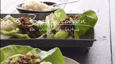 Bœuf coréen en wrap de laitue Food For Thought, Quebec, Yummy Snacks, Yummy Food, Lunches And Dinners, Meals, Asian Recipes, Ethnic Recipes, Meat Lovers