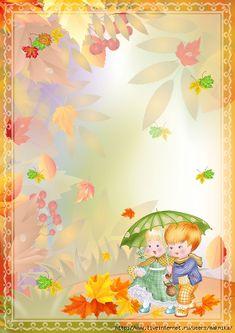 Осенние фоны (детские). Обсуждение на LiveInternet - Российский Сервис Онлайн-Дневников Frame Border Design, Kids Background, School Frame, Borders And Frames, Autumn Art, Tinkerbell, Crafts For Kids, Cross Stitch, Happy Birthday
