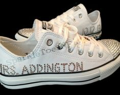 wedding bling converse shoes bridewedding swarovski crystalrhinestone womens