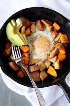 The Wheatless Kitchen | Sweet Potato Breakfast Skillet {for 1} | http://www.thewheatlesskitchen.com