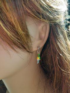 Cute Parrot Earrings by bluesparrowtrinkets on Etsy