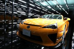 The Lexus LFA is featured in an installation by Rhizomatiks at Media Ambition Tokyo 2014 Lexus Lfa, Lexus Cars, Space Mountain, Walt Disney Company, Installation Art, Japanese Art, Badass, Tokyo, Vehicles