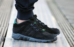 adidas EQT Running Guidance 93: Core Black & Dark Green