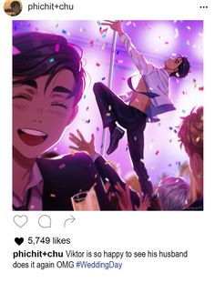"THEY ENGAGED on Twitter: ""Yuuri pole dancing on his own wedding? yes. YES. https://t.co/4Dw6BXkBQW"""