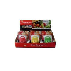 """Handy Peeler Assorted 24Pcs by FindingKing. $59.99. Peeling vegetables and fruits can be a chore; having the right tool can make all the difference. This handy peeler will handle your peeling needs effectively and in style. Bright colors add a nice kick to the kitchen drawer. Color choices are red; yellow and green. Each measures roughly 2 1/2"""" x 2 1/2""""."""