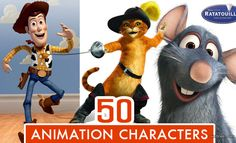 Top 50 Animated Movie Cartoon Characters of All Time. Read full article: http://webneel.com/webneel/blog/50-top-best-animation-movie-character-designs | more http://webneel.com/3d-characters | Follow us www.pinterest.com/webneel