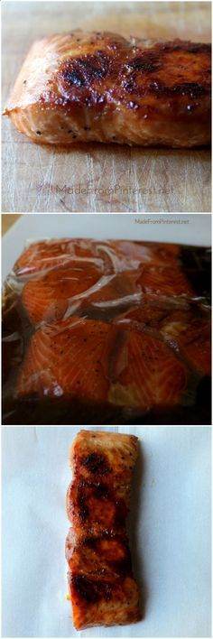Soy Sauce and Brown Sugar Salmon Marinade - No need to keep looking for salmon recipes. This is THE recipe for salmon. If you are lucky enough to have the new baking grill for the airfryer, cook this on it at 200deg for about 8 minutes. Or simply wrap in foil and bake at 200deg for around 8 minutes in Airfryer.