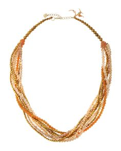 Crystal & Agate Multi-Strand Necklace - Nakamol