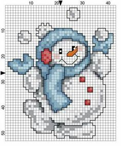 Your marketplace to buy and sell handmade items. - Boneco de Neve Natal more - Snowman Cross Stitch Pattern, Counted Cross Stitch Patterns, Cross Stitch Charts, Cross Stitch Designs, Cross Stitch Embroidery, Cross Stitch Patterns Free Christmas, Hand Embroidery, Christmas Embroidery Patterns, Vintage Cross Stitches