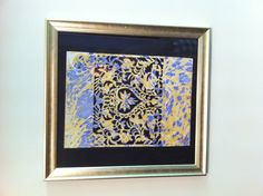 Ebru (water marbling artwork) combined with paper cutting