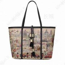 Tassel koristeinen iso laukku