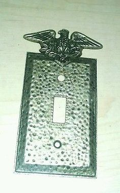 1-Vintage-American-Eagle-Hammered-Switch-Plate-Cover