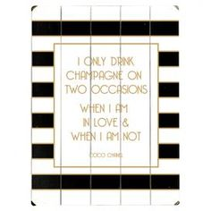 I Only Drink Champagne Wall Art