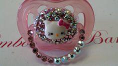 Hello Kitty Bling Binky MULTI PINK 100 by bimbosandbambinos, $25.00 omg.