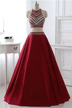 Cheap Feminine Burgundy Prom Dresses, Long Prom Dresses, #promdresses #longpromdresses #partydresses #dresses