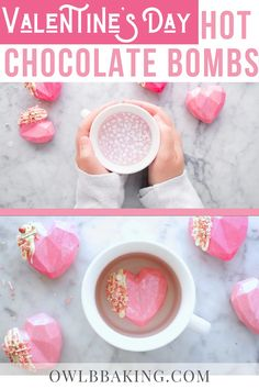 Chocolate Dishes, Chocolate Bomb, Hot Chocolate Bars, Chocolate Recipes, Valentines Day Chocolates, Valentine Chocolate, Valentines Day Food, Hot Chocolate Gift Basket, Buzzfeed Food Videos