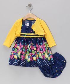Take a look at this Royal Butterfly Dress Set - Infant by Gerson & Gerson on #zulily today!