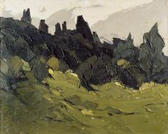 Craggs and Trees by Kyffin Williams c, 1970 - 1990