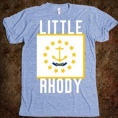 Rhode Island state flag and nickname t-shirt.