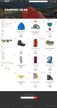 Category Page Layout by Monica Chow via Dribbble