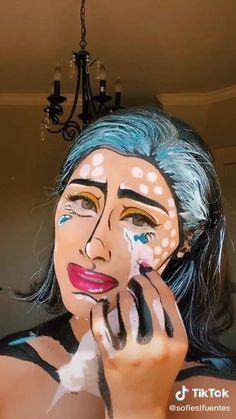 Cool Makeup Looks, Crazy Makeup, Cute Makeup, Bunny Makeup, Face Paint Makeup, Eye Makeup Art, Skin Makeup, Cool Face Paint, Amazing Halloween Makeup