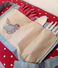 Gardening Apron & Tools by Featherstitch1 on Etsy, £15.00