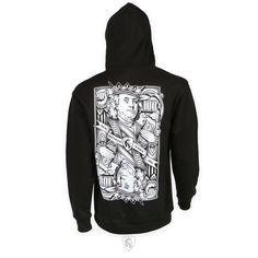 OGABEL OG Abel Clothing Lost King Tattoo Art Goth Skull Skeleton Wallet WTR001
