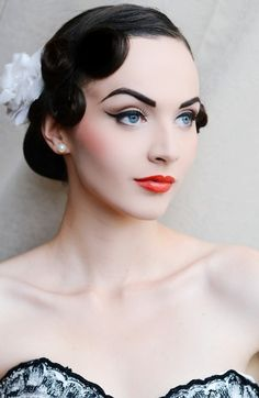 Stunning...the only instance when one should rock BLACK brows...snow white effect.