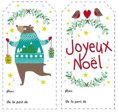 Etiquettes Noël Pauline Courtois