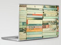 Society 6 Cassia Beck Bookworm laptop skin, $30