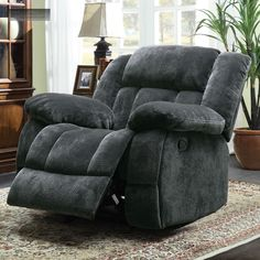 Grey Microfiber Big Man Recliner Lazy Boy Reclining Chair Furniture Barcalounger & The lazy boy would be my furnature because its really relaxing and ... islam-shia.org