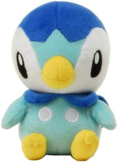"Pokemon Diamond  Pearl Plush Stuffed Toy - 7"" - Piplup"