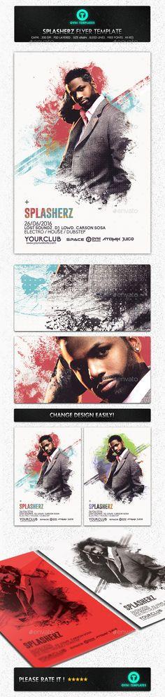 Abstract Paint Minimal Flyer Template — Photoshop PSD #minimalism #design •…