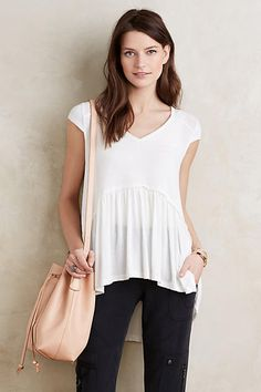 I like this, maybe in a color. Peplum Swing Tee
