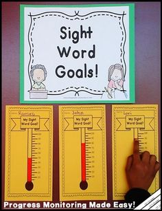 Everything you need to monitor sight word progress! More