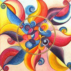 Mandala : Clown Chakra  by danita clark