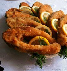 Tradycyjny Karp Smażony - Przepis - Słodka Strona Karp, Fish Dishes, Onion Rings, Zucchini, Shrimp, Sausage, Food And Drink, Lunch, Meat